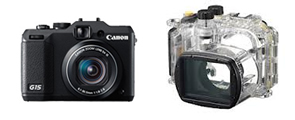 Canon G15 underwater camera